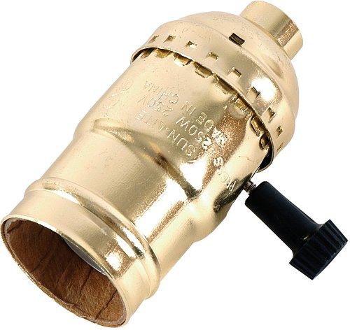 GE 3-Way Lamp Socket Gold 54372