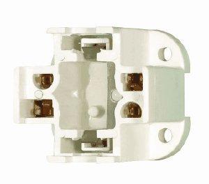Satco 90-1551 - 26 Watt - CFL Socket - 4 Pin G24q-3 and GX24q-3 - Bottom Screw Down