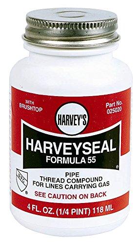 Harvey 25020 Oatey 0 Multi-Purpose Pipe Thread Compound 4 Oz Brush top Plastic Jar Liquid Paste Yellow