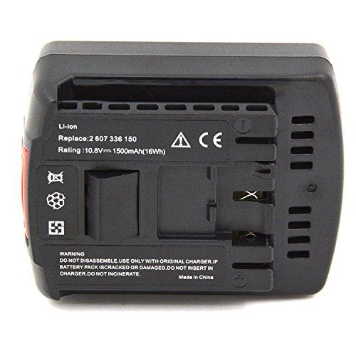BRTONGÂ New Power Tools Battery for Bosch 2607336078 2607336150 2607336224 2607336318 BAT605 BAT606 BAT607 BAT607G BAT614 BAT614G - 12 Months Warranty Black-1500mAh16Wh