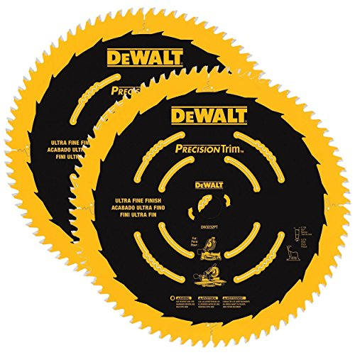 DeWALT DW3215PT 10-inch 60T Trim Smooth Crosscutting Wood Saw Blades 2-Pack