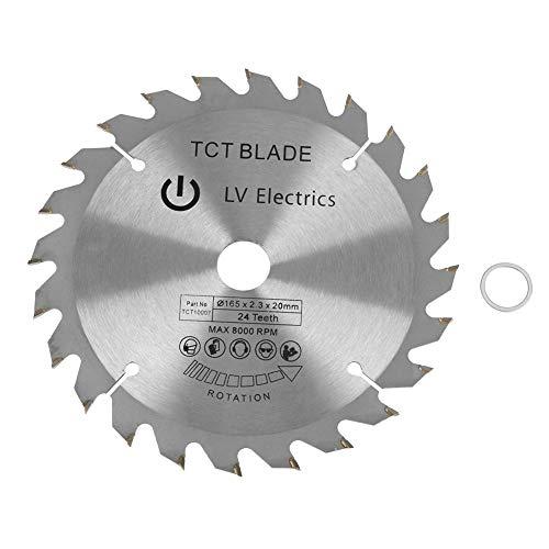 Circle Saw Blade 165mm 24 Teeth Bore Diameter 20mm Circular Saw Blade Wood Cutting Circular Saw Replacement Parts
