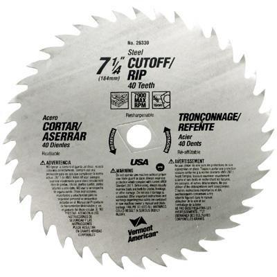 Vermont American 26370 Standard Steel Circular Saw Blades