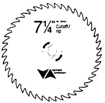 Vermont American 26493 58-Inch Arbor 7-14-Inch 20 Tooth Steel Circular Saw Blade