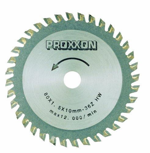 Proxxon 28732 3-964-Inch 80mm Carbide Tipped Saw Blade 36-Teeth