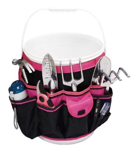 Apollo Precision Tools DT0825P Garden Tool Organizer BlackPink 5-Gallon Bucket  Donation Made to Breast Cancer Research