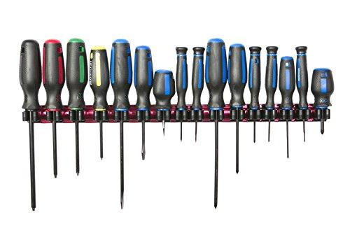 Olsa Tools  Premium Quality Tool Organizer  Magnetic Screwdriver Holder  Fits up to 16 Screwdrivers
