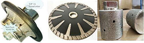 Diamond 38 Radius Bullnose Profile shaping wheel router bit 1 14 zero tolerance grinding drum 5 diamond convex curved blade granite tools stone fabrication concrete marble repair refinishing