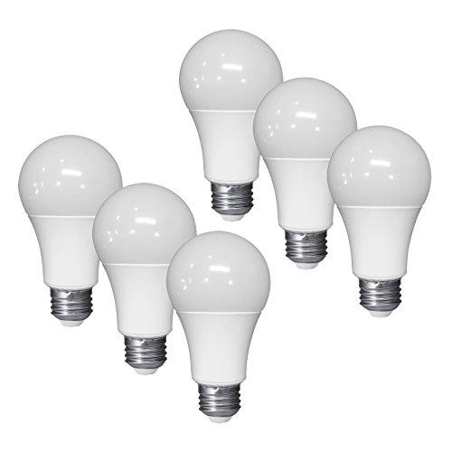 A19 LED Dimmable Bulb 6 Watt 480 Lumens 4000K - 6 pack