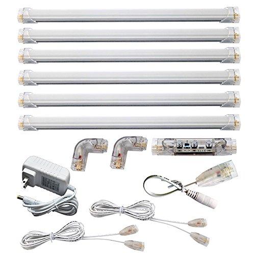 LED Under Cabinet Lighting Neutral White 4000K 6 Panel Kit Dimmable Total of 24w 24v Dc 2400lm Bosanlight