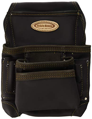 McGuire-Nicholas 870-CC 10 Pocket Nail and Tool Pouch Oil Tanned Leather Tan Brown