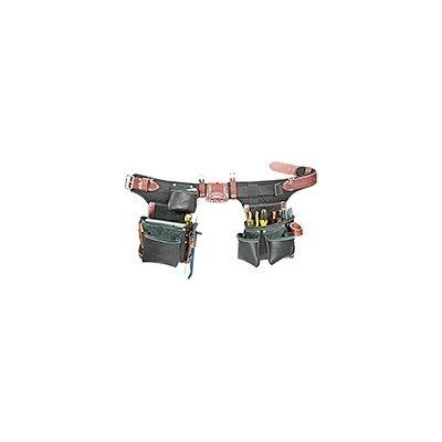 Occidental Leather B9588 Adjust-to-Fit Green Building Tool Belt Set -  Black