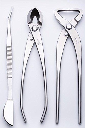 3 PCS Bonsai tool Set JTTK-22 Trunk Splitter  Round Edge Cutter  Bonsai Tweezers Master Grade Bonsai Tools Excellent Quailty