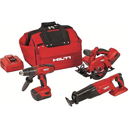 Hilti 3482518 18-Volt Lithium-Ion Cordless Hammer Drill DriverReciprocating SawCircular Saw Combo Kit