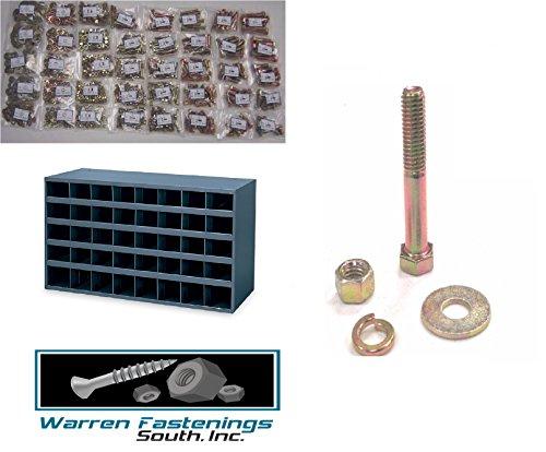 Assortment Kit Grade 8 Bolt Nut Washer And Lockwasher 800 Pc W Bin