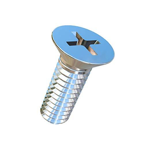 Allied Titanium 0001289 Pack of 50 8-32 X 12 UNC Flat Head Phillips Drive Titanium Machine Screw Grade 2 CP
