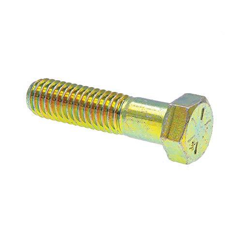 Prime-Line 9105542 Hex Head Cap Screws Grade 8 716 in-14 X 1-34 in Grade 8 Yellow Zinc Plated Steel 10-Pack
