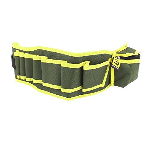 Nylon Strap Pliers Scissors Cutter Tool Waist Belt Bag Yellow Green