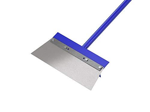 Bon 15-158 14-Inch Steel Floor Scraper with Angle Cut Blade 60-Inch Steel Handle