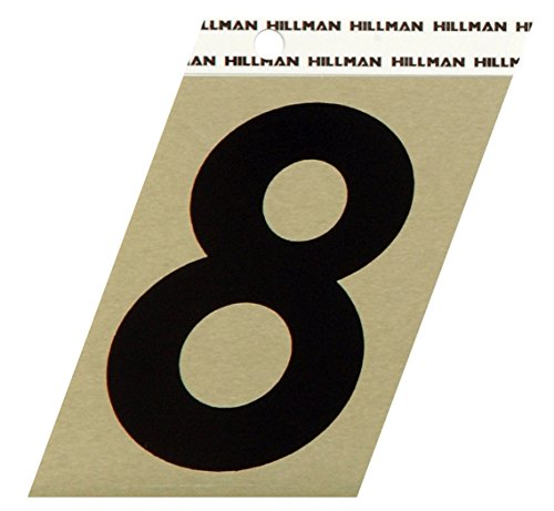 The Hillman Group 840568 3-Inch Aluminum Angle-Cut Number 8