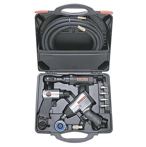 Craftsman 10 pc Air Tool Set High Torque Impact Wrench Ratchet Air Hammer Hose