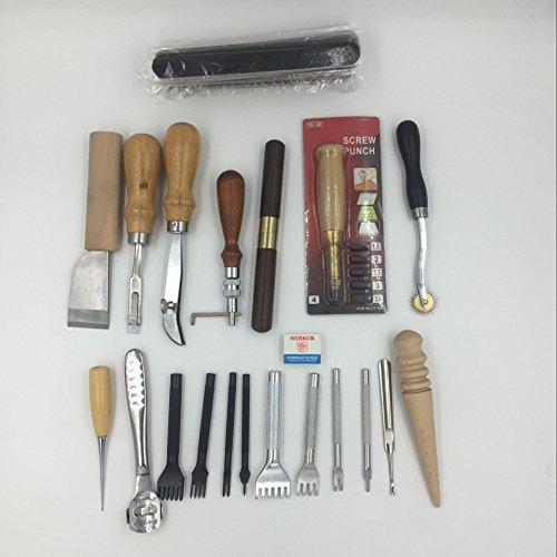 20 Tools Leathercraft Tool Kit Leather Hand Sewing Tool Set