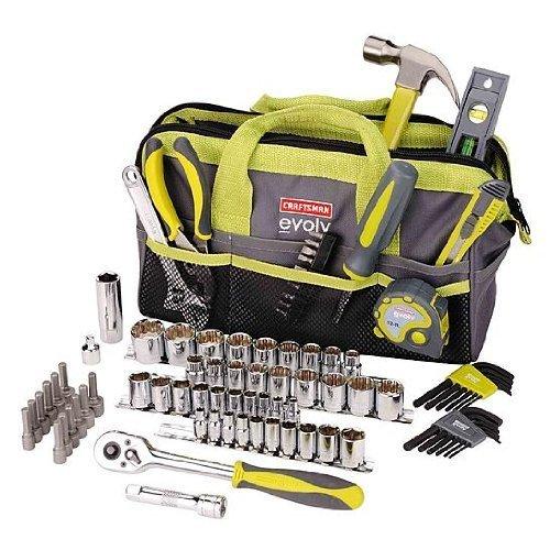 Craftsman Evolv 83 Pc Homeowner Tool Set Wbag 41283 by Craftsman