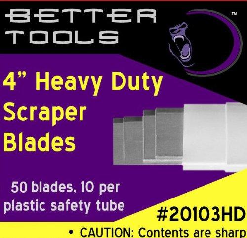 4 Scraper Blade - Extra Heavy Duty 50box