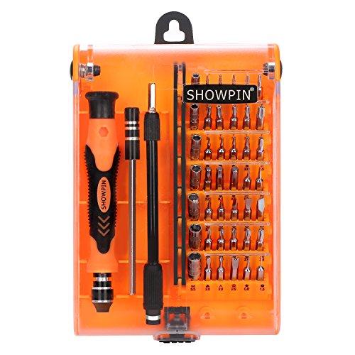 Mini Precision Screwdriver Set Showpin 45 in 1 with 42 Bit Electronics Repair Toolkit for Mobile Phone PC Digital Camera