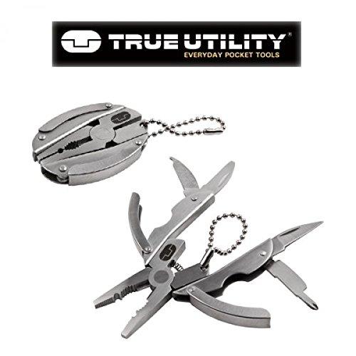 True Utility TU42 Stainless Steel Micro Tool Miniature Multi Tool