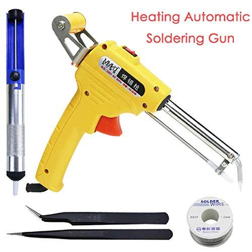 Cinhent Soldering Iron Gun Kit - 110V 60W Professional Soldering Tool Fast Heating Automatic Send Tin Heat Gun-Type Soldering Station Welding for Circuit Board Repair