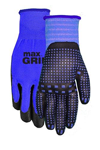 Midwest Gloves Gear 94BL-L-AZ-12 MAX Grip Single Pair Mens Blue