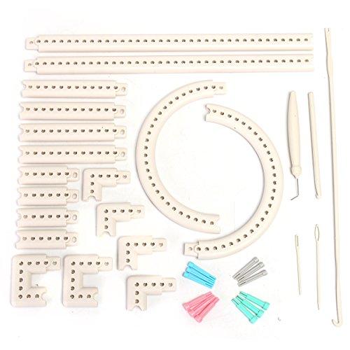 WCHAOEN Craft Yarn Multi-function Knitting Board Knit Weave Loom Kit DIY Tool Set Accessories Tool