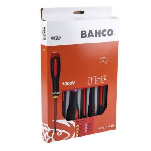 Bahco 9888S BE-9888s VDE Ergo SlotPozi Screwdriver Set 7 Pieces