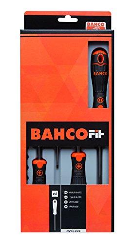 Bahco B219004 4Piece Bahcofit Screwdriver Set SlottedPhillips