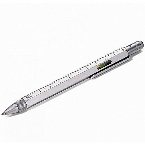 Kikkerland 4-in-1 Pen Tool Silver Pen Philips Screwdriver Flathead Screwdriver Ruler