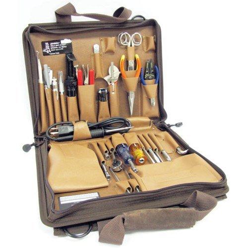 Jensen Tools JTK-86C Technicians Tool Kit in Single Brown Cordura Plus Case