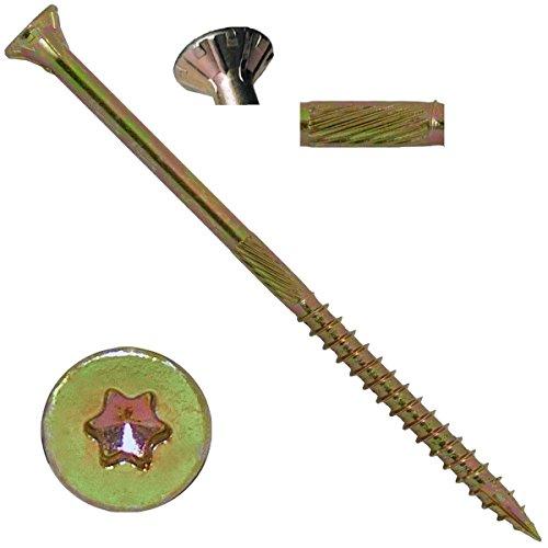 10 X 4 Gold Star Wood Screw TorxStar Drive Head 5 Pounds - Multipurpose TorxStar Drive Wood Screws