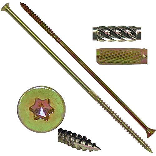 14x8 Gold Star Wood Screw TorxStar Drive Head 1 Pound - 19 Approx Screw Count - Multipurpose TorxStar Drive Wood Screws