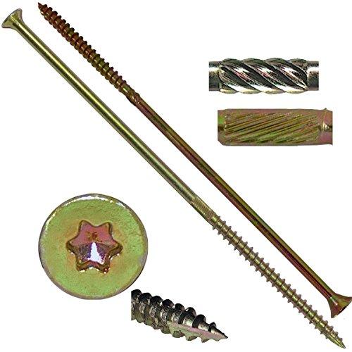 14 X 7 Extra Long Gold Star Wood Screw TorxStar Drive Head 1 Pound - Multipurpose TorxStar Drive Wood Screws