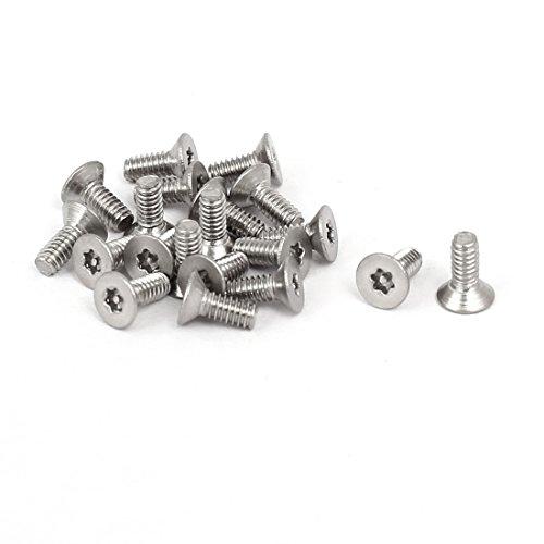 uxcell M2x5mm 304 Stainless Steel Flat Head Torx Anti Theft Machine Screws 20pcs