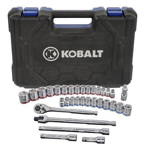 Kobalt 33-Piece StandardMetric Mechanics Tool Set with Case 85187