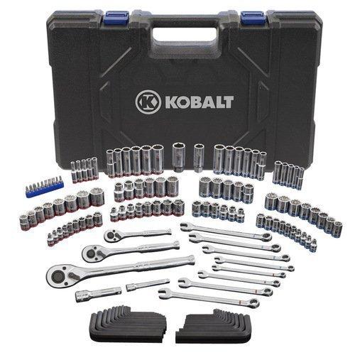 Kobalt 338516 StandardMetric Mechanics Tool Set with Case 138-Piece