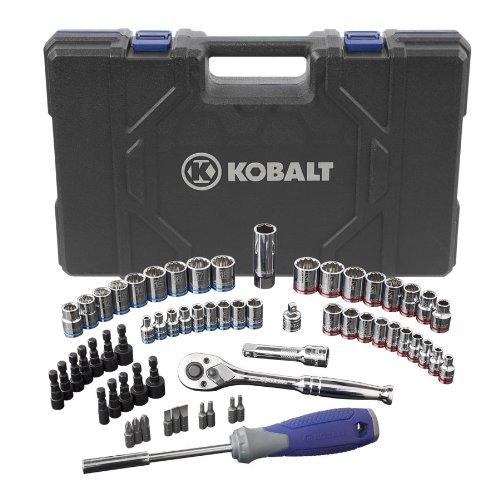 Kobalt 63-Piece StandardMetric Mechanics Tool Set with Case 85189