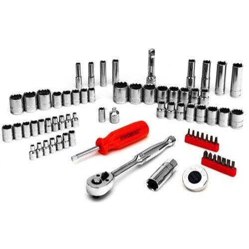 Powerbuilt 646546 SAE and Metric Mechanics Tool Set 71 Piece by Powerbuilt