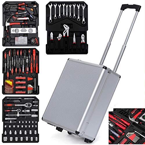 Tool Kit Wrenches Socket wTrolley Case Box Organize 799 PCS Tool Set Mechanics