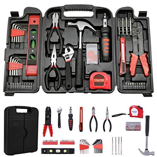 giokfine 129 Pcs Tool Set-General Household Hand Tool Kit Auto Repair Tool Set with Box
