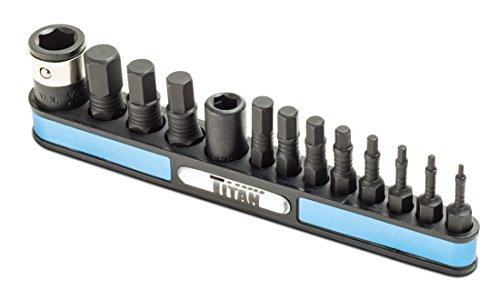 Titan Tools 16038 13-Piece MM Impact Hex Bit Set