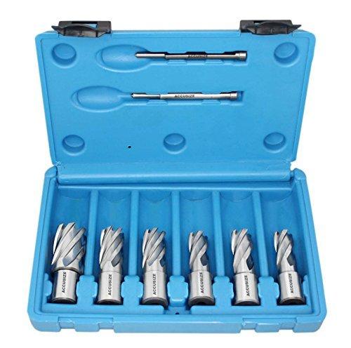 Accusize - HSS Annular Cutter Set - 1 Cutting Depth 716 - 1-116 8 PcsSet HCS1-0000