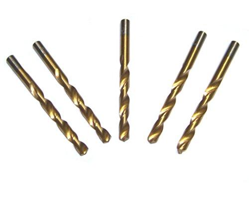 5pc 2164 Titanium Coated Profesional Twist Drill Bit HSS For Metal HOTECHE